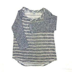 Splendid Womens Knit Gray Striped Long Sleeve